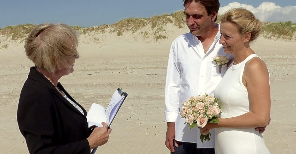 People getting married on beach